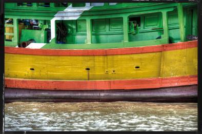 Dockside Licht des Hafens Bangkok